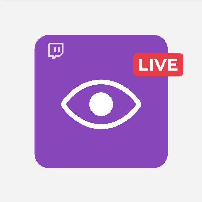 Visualizzazioni Twitch Live Stream